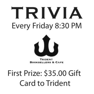 Trivia!   Trident Booksellers and Cafe